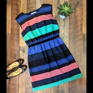 LOFT multi-color striped dress